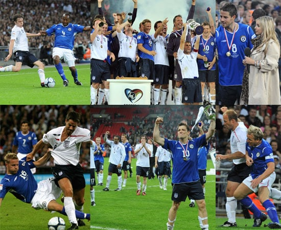 Photos and Video From Soccer Aid 2008 Featuring Tom Felton, Danny Jones, Robbie Williams, Gordon Ramsay, Jamie & Louise Redknapp