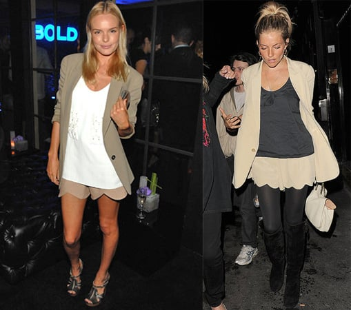 Photos of Kate Bosworth and Sienna Miller in Chloe Blazer, Shorts