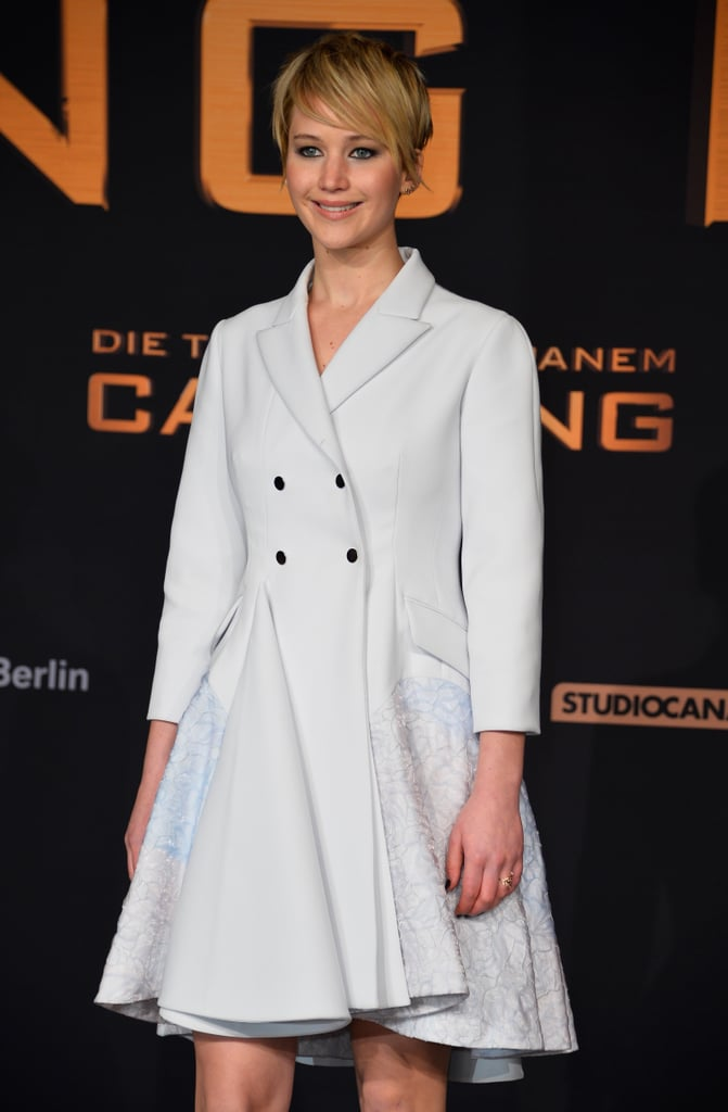 Jennifer Lawrence promoted The Hunger Games: Catching Fire in Berlin, Germany.
