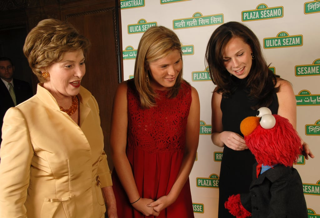 First Lady Laura Bush With Daughters Jenna and Barbara, 2007