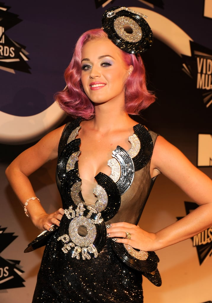 Katy Perry gave a wink in the press room.