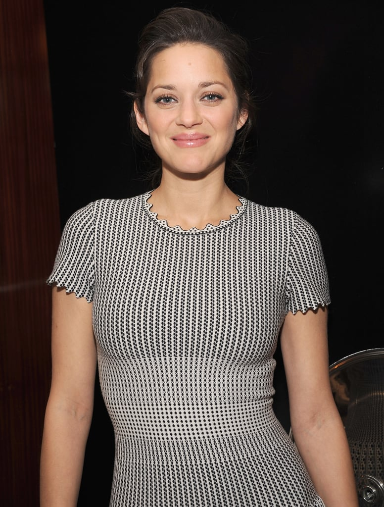 Marion Cotillard promoted Rust and Bone in NYC.