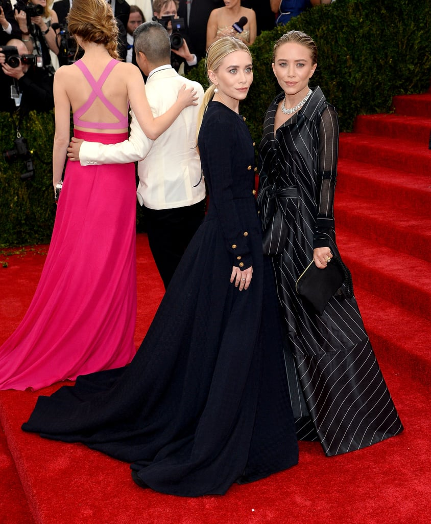 Near the staircase, Ashley and Mary-Kate Olsen were joined by another duo, Emma Stone and designer Thakoon.