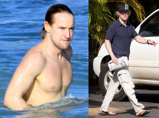 Photos of Shirtless Owen Wilson Swimming in Hawaii