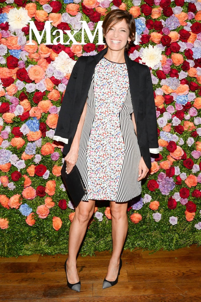 Despite the New York heat, Cindi Leive piled on the layers at the launch event for Jennifer Garner's Max Mara accessories campaign.