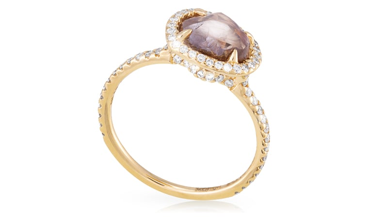 Diamond in the Rough Classic Gold Ring ($9,700)