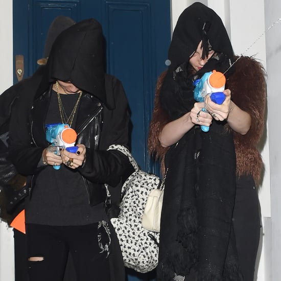 Cara Delevingne and St. Vincent Paparazzi Water Fight