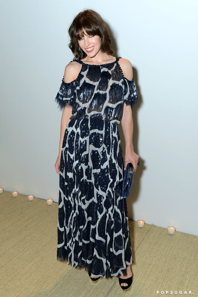 Milla Jovovich was on hand for Vanity Fair and Chanel's Cannes Film Festival dinner party on Sunday night.