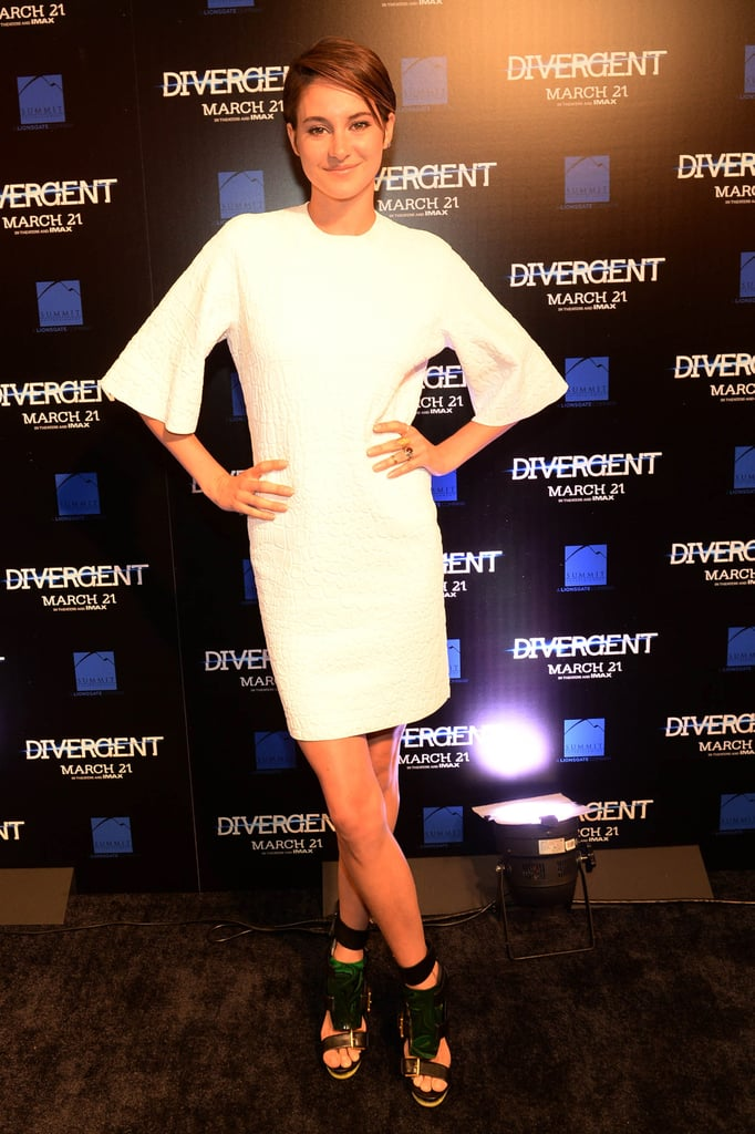 Shailene Woodley in Alexander McQueen at the 2014 Divergent Atlanta Screening