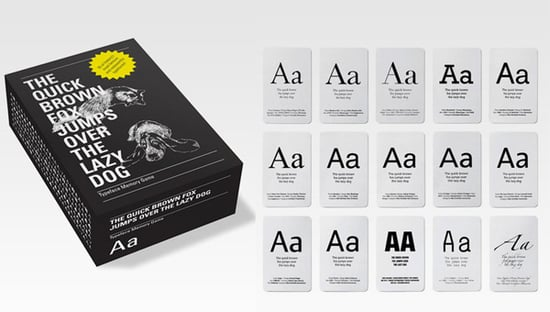 Typography Memory Game