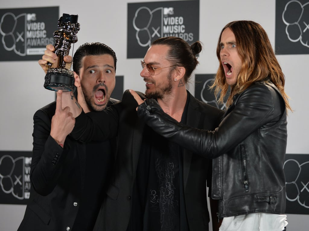 The guys of Thirty Seconds to Mars joked around at the VMAs.