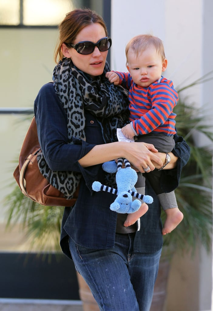 Jennifer Garner carried her son, Samuel, while out in LA.