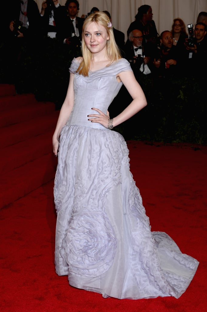 Dakota Fanning posed in Louis Vuitton.
