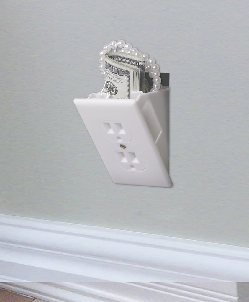 OK, so this isn't a real outlet, but the fake product ($7, originally $10) is helpful for hiding money and valuables.