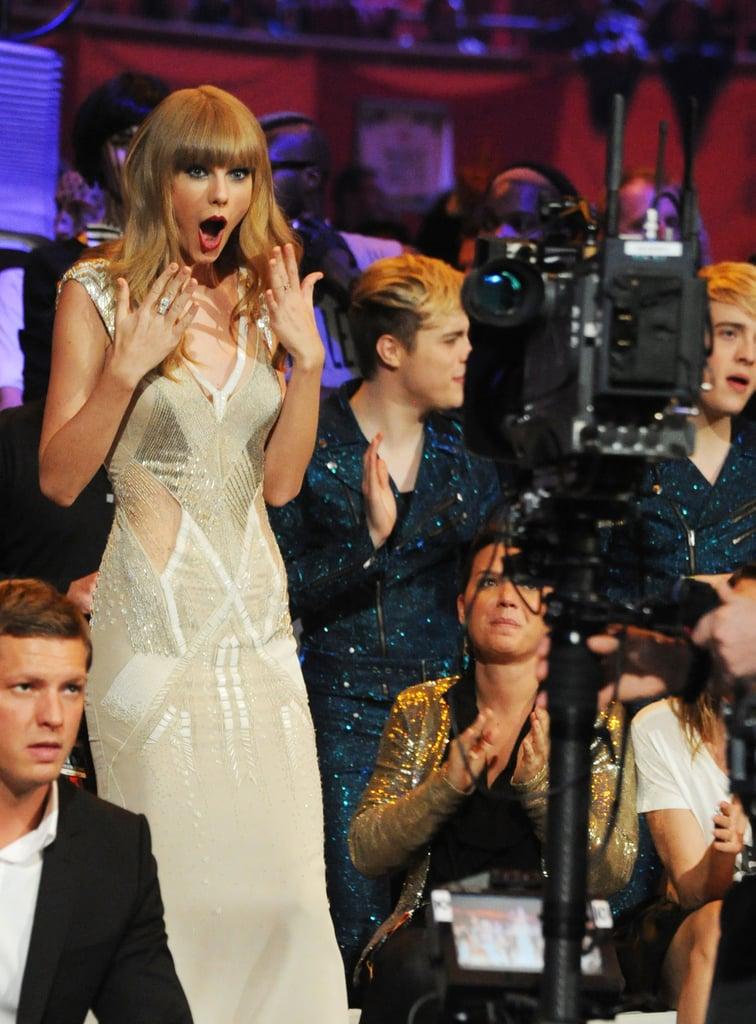 She was shocked to win an award at the MTV EMAs in November 2012.