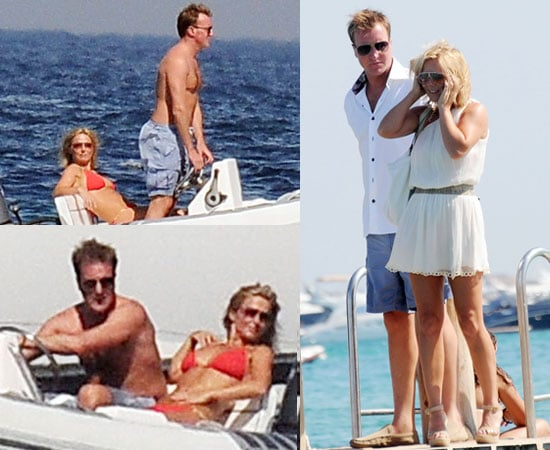 Pictures of Geri Halliwell in Bikini Cuddling Henry Beckwith On Holiday in South of France