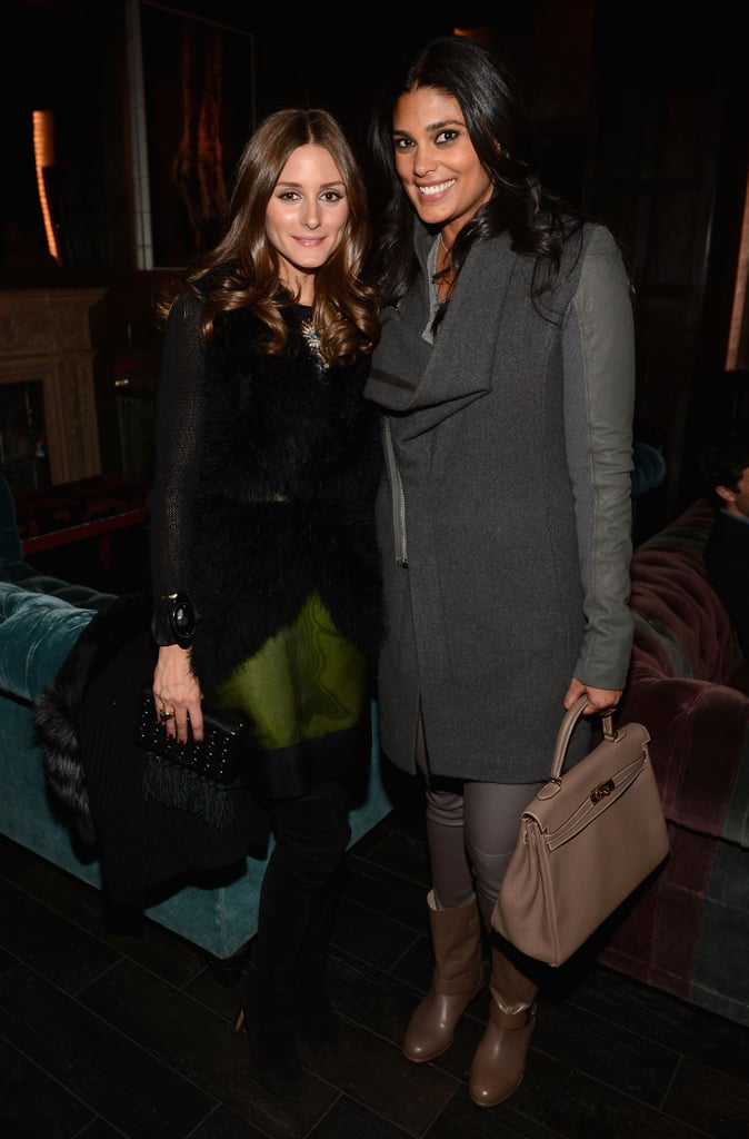 At the La Perla afterparty, Olivia Palermo and Rachel Roy showed not one but two cool-girl ways to mix textures and layers.