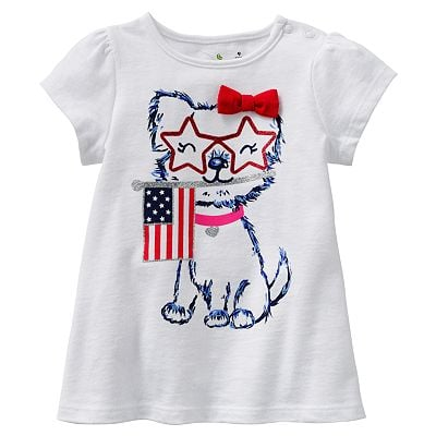 Even furry friends can join in on the festivities with this Jumping Beans patriotic puppy tee ($5, originally $12).
