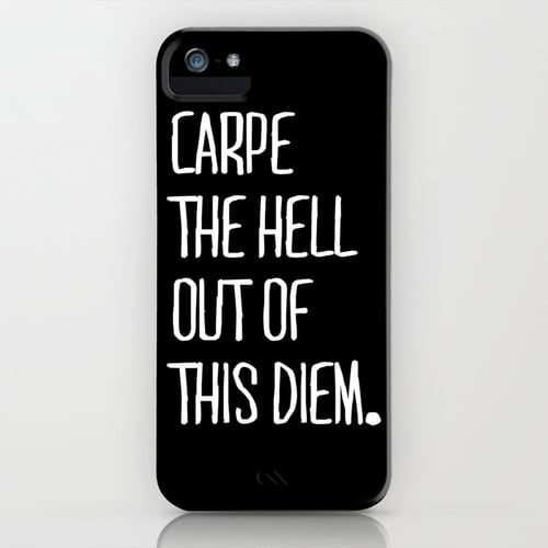 Carpe Diem by Pencil Me In Smartphone Case