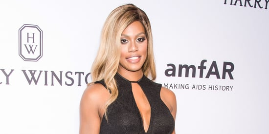 Laverne Cox Wows In Sexy Black Dress At amfAR Gala