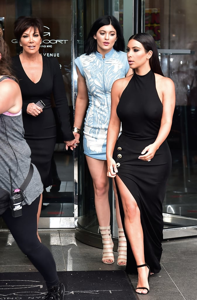 Kris, Kylie, and Kim left their hotel to head to the birthday bash.