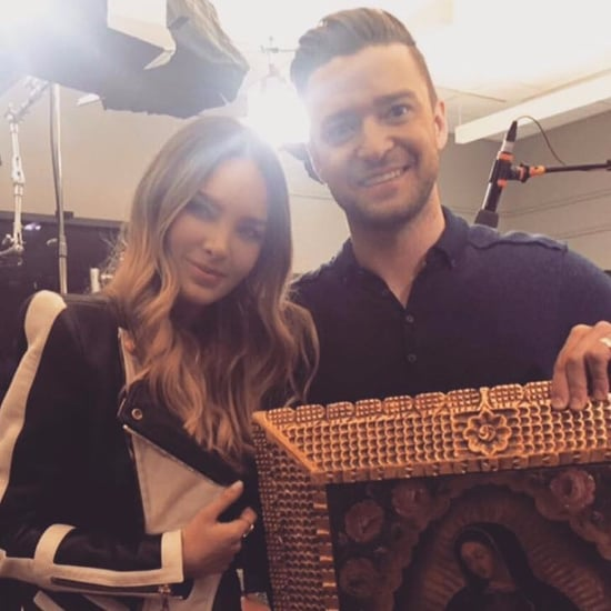 Belinda With Justin Timberlake Promoting Trolls