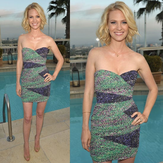 Pictures of January Jones in BCBG Dress