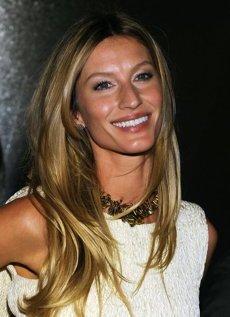 Her honey-blonde hair was cut into choppy layers and styled straight at an event in 2010.