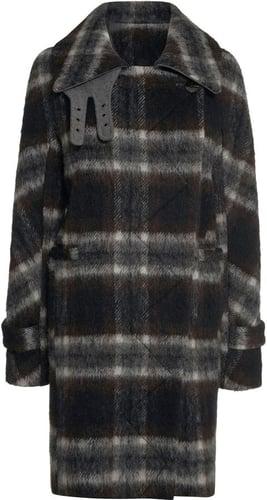 Next Oversized Check Coat
