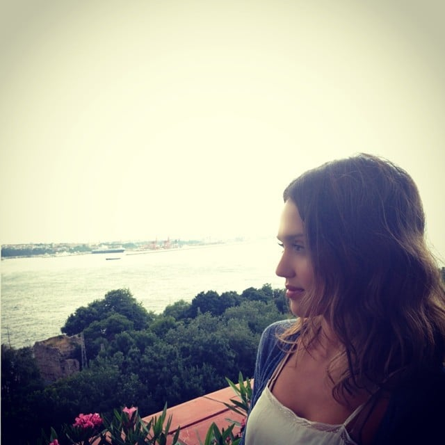 """That view tho #Bosphorus #Turkey #KonyaliTopkapi,"" Jessica Alba wrote on Saturday morning. Source: Instagram user jessicaalba"