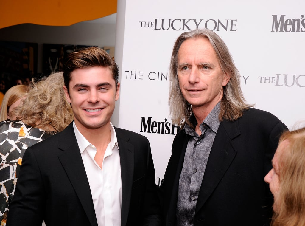 Zac Efron and Scott Hicks posed together at the Cinema Society and Men's Health screening of The Lucky One in NYC.