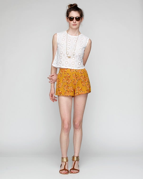 These shorts are slouchy but teeny-tiny. We'd suggest wearing them with pretty flat sandals instead of heels.  Need Supply Co. Sally Shorts ($48)