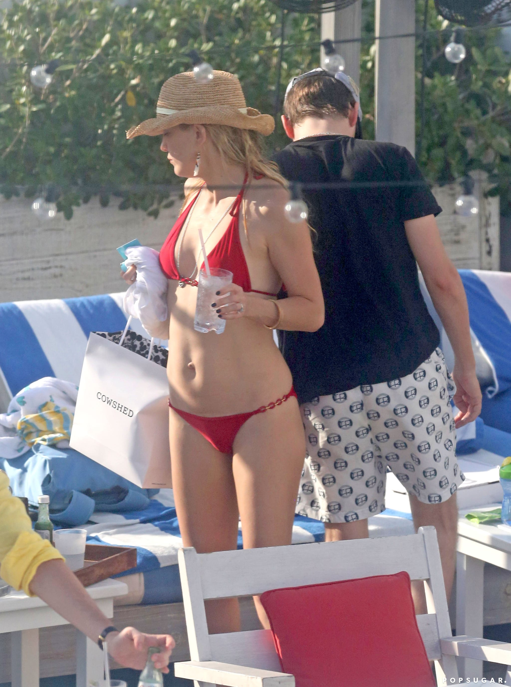 Kate wore red poolside in Miami in February 2013.