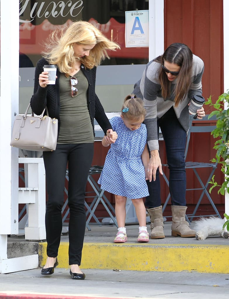 Jennifer Garner made a coffee stop with middle child Seraphina in LA.
