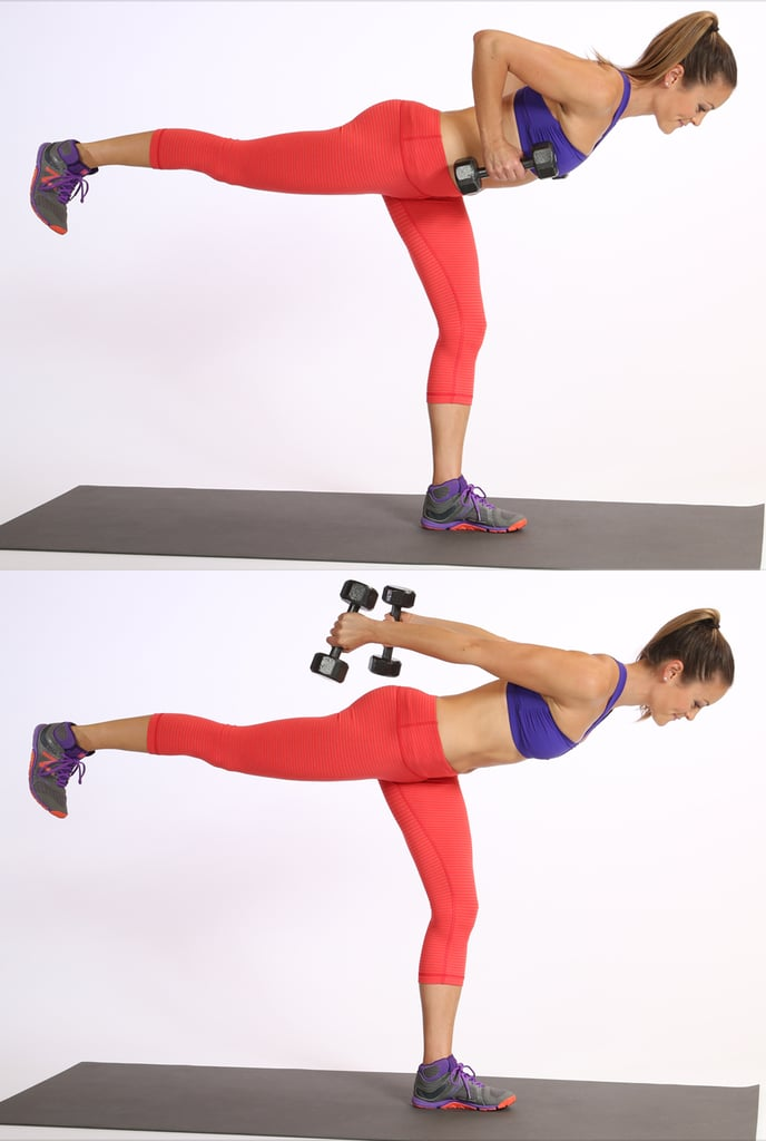Circuit Two: Warrior Three Triceps Extension