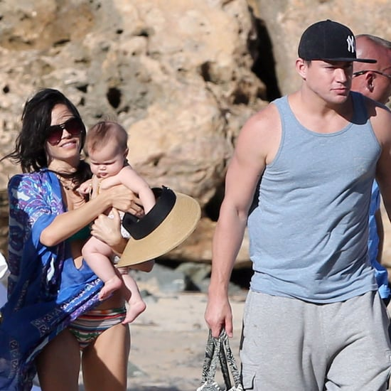 Channing Tatum on the Beach With His Baby