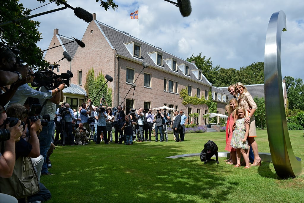 Cameras surrounded the Dutch royals at Horsten Estate.