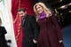 Kelly Clarkson walked hand in hand with fiance Brandon Blackstock.
