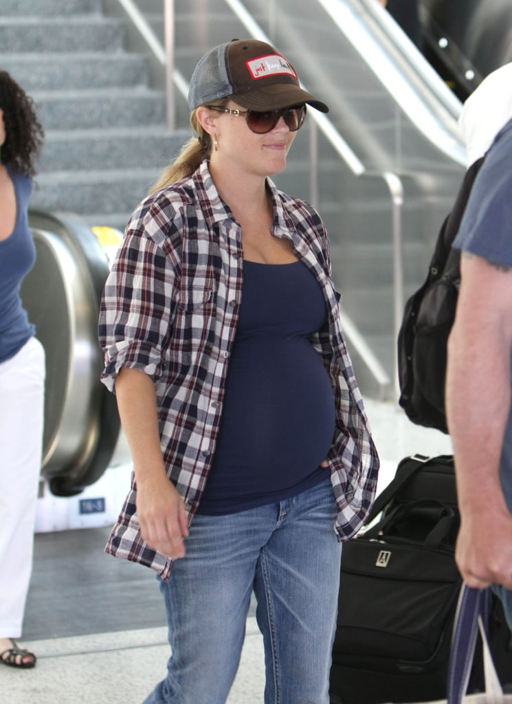 Reese Witherspoon took time off from filming in Atlanta to spend time with her family in Los Angeles.