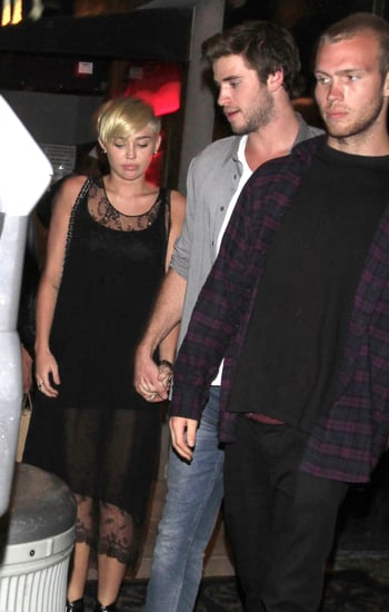 Liam Heads to His Hunger Games Set Following a Night Out With Miley
