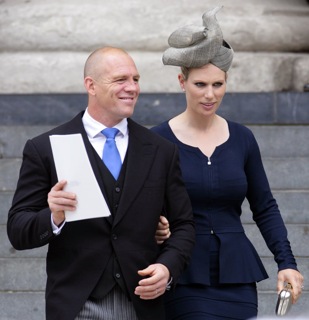 Zara and her husband, Mike, attended the Service of Thanksgiving for Queen Elizabeth's Diamond Jubilee in 2012.