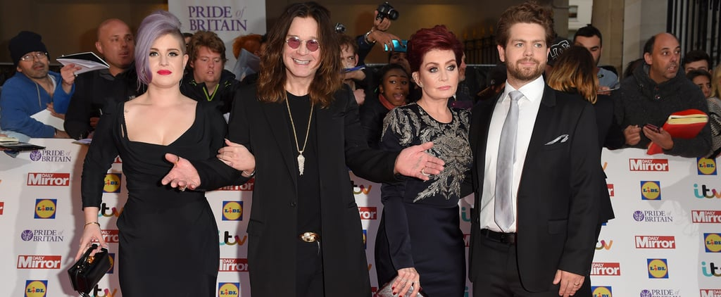 Sharon and Ozzy Make the Red Carpet a Family Affair With Jack and Kelly