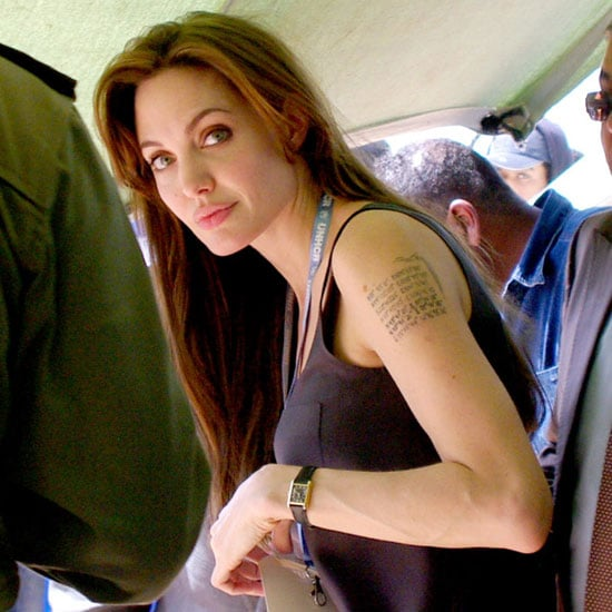 Angelina's New Mystery Tattoo