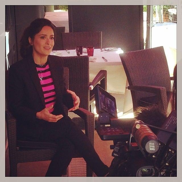 Salma Hayek gave an interview. Source: Instagram user hollywoodreporter