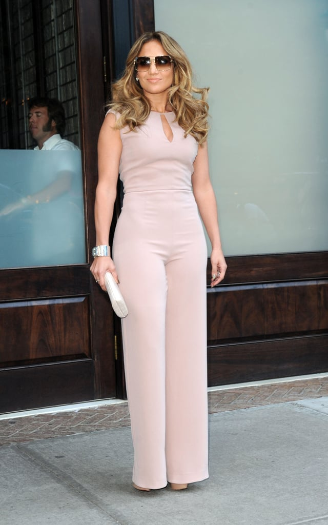 Jennifer Lopez wore a jumpsuit out in NYC.