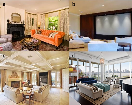 Match the Living Room to the Celebrity!