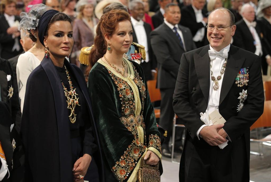 Sheikha Mozah bint Nasser Al Missned of Qatar, Princess Lalla Salma of Morocco, and Prince Albert II of Monaco attended the inauguration.