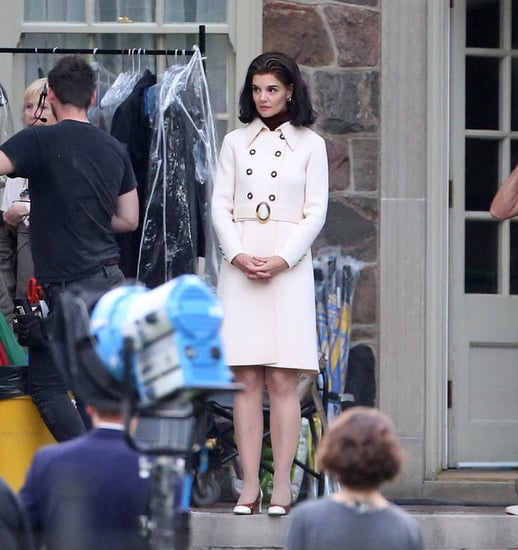Katie Holmes on the set of The Kennedys: After Camelot in Toronto