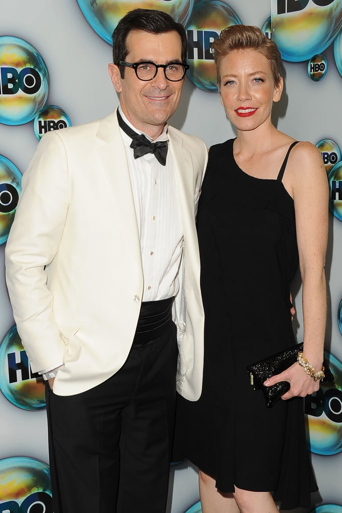 Ty Burrell and his wife Holly Burrell went to the HBO bash.