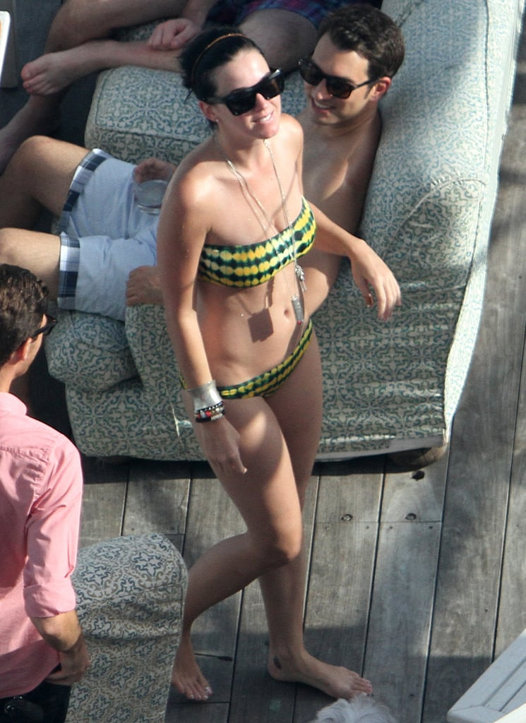 She showed off her fit figure in Miami in July 2012.